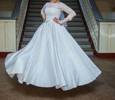 Свадебное платье б/у, туфли , балетки