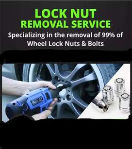 Removal of lock nuts