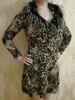 Платье М-ка с искусственным мехом