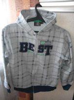 Куртка спортивная с капюшоном для мальчика 10-11 лет