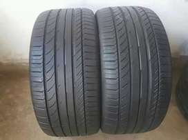 2 × 255 / 40 / 18 runflat continental tyres for sale