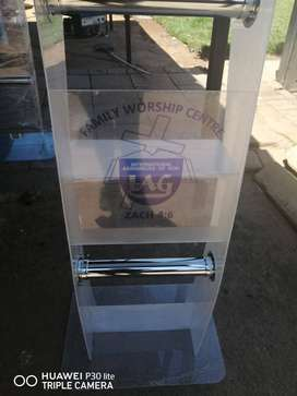 C Frosted White Lectern