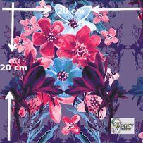 Materiał lub tapeta drukowane na zamówienie - Kwiatowy wzór