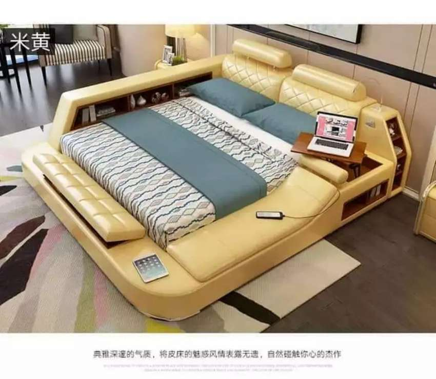 Comfortable bed in different design 0