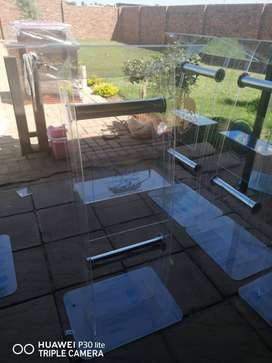 Acrylic With Tubes Curved Podiums