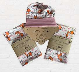 Baby Burp Cloth And Hat