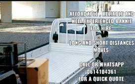 Best Affordable And Reliable Bakkie For Hire Call or Whatsapp