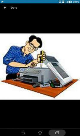 Ремонт принтеров. продажа принтеров б.у. и заправка картриджей