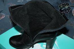 нові шкіряні чобітки, кожаные сапожки