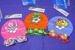 Комплект очки и шапочка для плавания детские Arena на 3-4 года