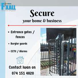 Install security for home and business with Fixall Services