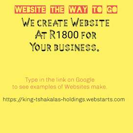 We create website for business /personal