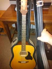 Image of Crafter Acoustic Guitar with Hardcase