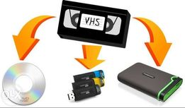 Оцифровка видео, аудиокассет,скан фото (запись на диск или флешку