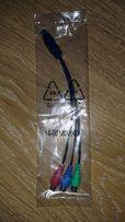 Новый переходник (кабель, шнур) 7pin S-video на RGB 3 RCA (тюльпан)