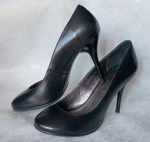 туфли чёрные классические шпилька 36 размер натуральная кожа, Германия