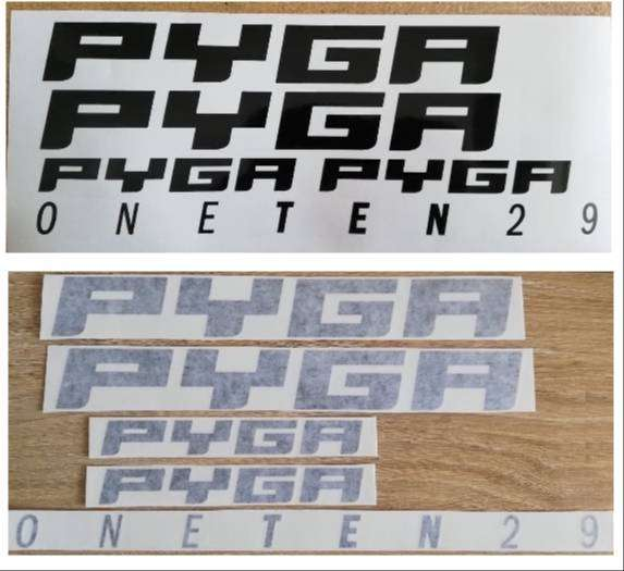PYGA bicycle frame decals stickers / vinyl cut graphics 0