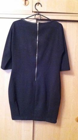 Черное платье с кожаными вставками 38/44/m Харьков - изображение 2