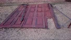 Used Wooden Single Garage door without a motor
