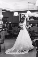 свадебное платье модный цвет розовый кварц 9