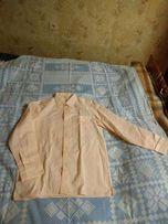 Мужская рубашка большого размера нежно-розово-персиковая