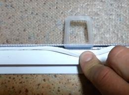 Ручки для москитних сеток под шнур и под саморез.