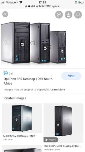 """Dell Optiplex DX380 used units with 17"""" screen"""