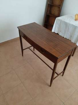 Solid wooden antic table with two draws