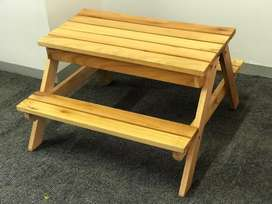 Kiddies picnic table with play area