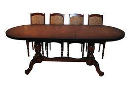 Стол овальный раздвижной из дерева для 8-10 гостей, своё производство.