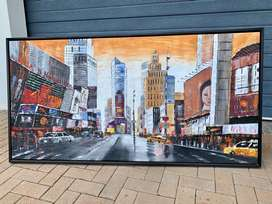 Stunning hand painted Framed New York Time Square Canvas