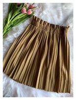Karmelowa/oliwkowa plisowana spódnica z mareszczeniem. S M L XL