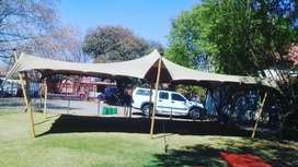 6x6m (36sqm) Stretch Tent for Hire R4221
