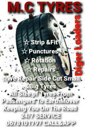 CHEAP Tyres SERVICE fitting, Repairs mobile   24/7