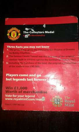 Manchester United Collectors medal