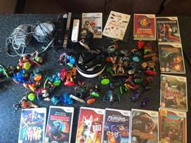 Wii Console with 13 Games and 45 Skylanders