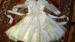 Платье белое нарядное для выпускного или праздника
