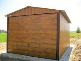 Garaże Blaszane PREMIUM 3x5 PLUS Drewnopod. Złoty Dąb Garaż blaszany