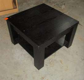 Square black coffee table