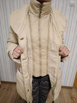 Зимняя куртка пуховик с натуральным мехом