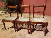 Image of Vintage Riempie Chairs x 3 J 2087