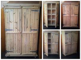 Kitchen Cupboard Farmhouse series Free standing 1800 Mobile - Raw