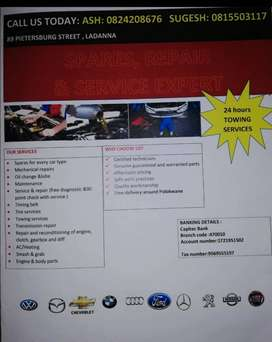 Car spares and services