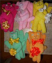 Кот-Мочалка перчатка для пилинга, скраб. Подарок. Под заказ