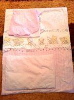 Одеяло, подушка и постельное белье от 0 и до 4-х лет