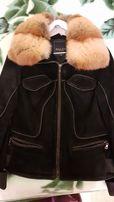 Куртка замшевая женская SALCO с лисьим мехом