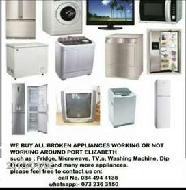 We buy broken applience working or not