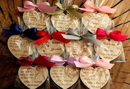 Podziękowania dla gości magnes ślub wesele magnesy Wzory rustykalne