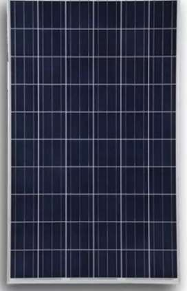 2.5 solar panels, invector and 4battery which are 4 volts