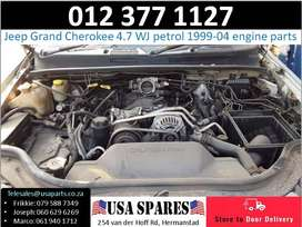 Jeep Grand Cherokee 4.7 WJ 1999-04 used petrol engine parts for sale